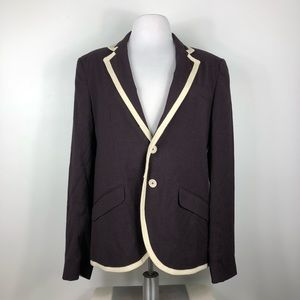 French Connection Blazer Virgin Wool Blend Jacket
